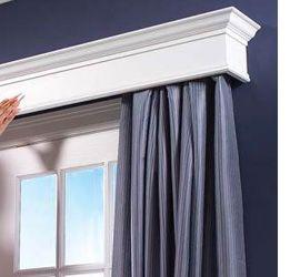 Home Dzine How To Build A Box Pelmet Window Cornices Diy Curtain Rods Diy Curtains