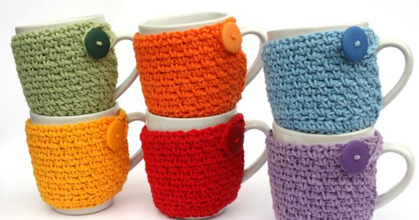 Coffee Cup Cozy Crochet Cup Cozies Coffee Sleeve Great Office Secret Santa