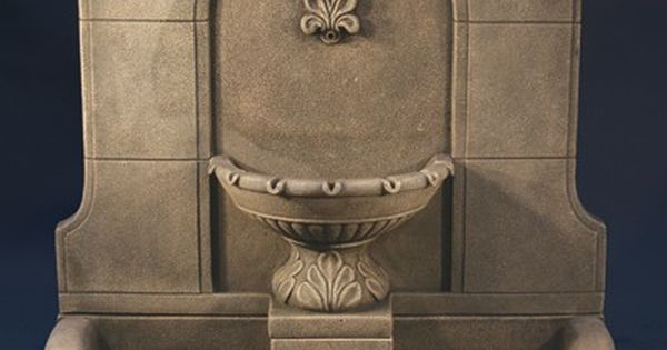 Jacksons Home And Garden Provincial Wall Fountain With Plain Basin