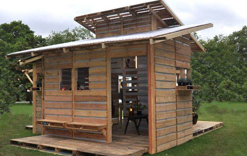 This is the Pallet Emergency Home. It Can Be Built in One