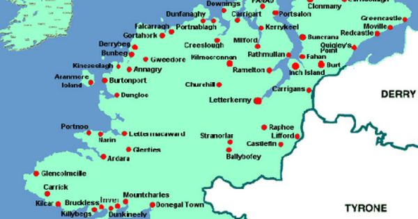 Map Of Co Donegal A Map Of Co