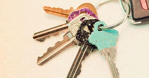 glitter nail polish keys