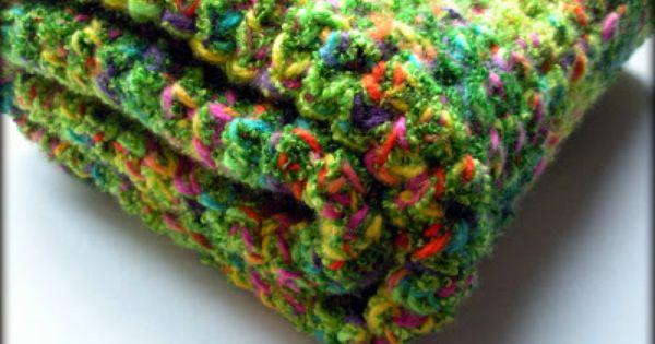 Crochet Baby Blanket Patterns Variegated Yarn : This fun baby blanket is a crocheted half crochet pattern ...