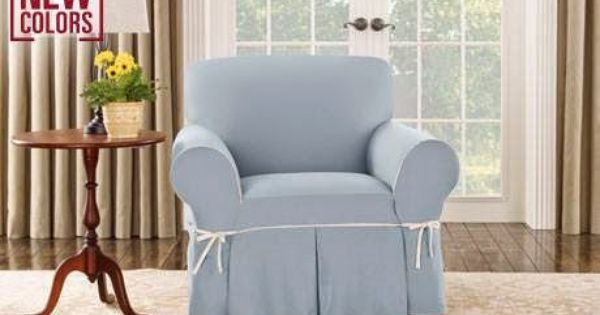 A Breath Of Fresh Air New Color Sky Blue Is The Perfect Hue To Bring A Serene And Calming Feel To Any Liv Slipcovers For Chairs Redecorate Bedroom Slipcovers