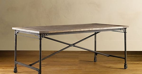 Restoration Hardware Flatiron Desk 72quotx36quotx30quot for 895 in  : 5837bf38d5bbdb19ceaa609079c5cd65 from www.pinterest.com size 600 x 315 jpeg 23kB