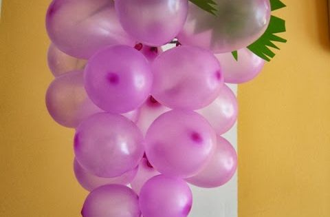 DIY party decoration from balloons