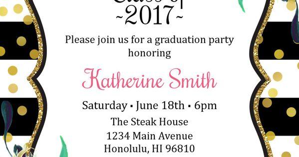 graduation invitation for girls  graduation party