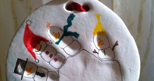 Awwww, cute kid craft, handprint ornament idea.. think I could do this