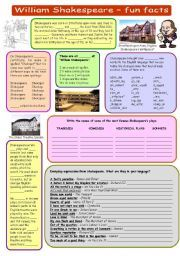 English Teaching Worksheets William Shakespeare William