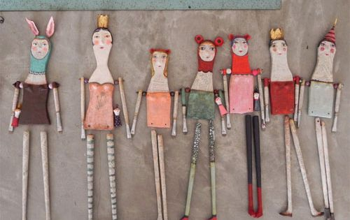 juliana bollini paper mache sculptures