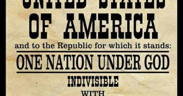 Black and White Pledge of Allegiance