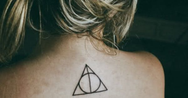 triangle tattoo.