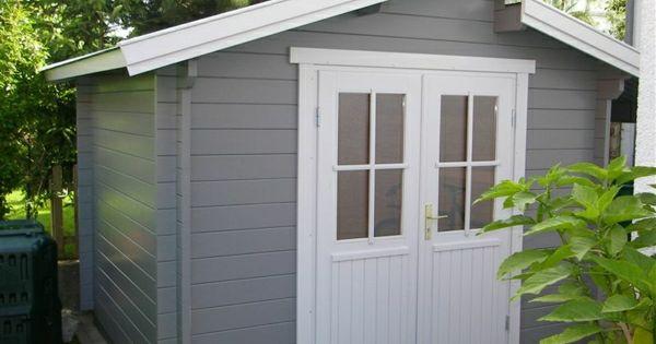 gartenhaus in grau und wei aber n chstes jahr bestimmt. Black Bedroom Furniture Sets. Home Design Ideas
