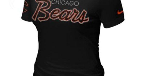 Nike Chicago Bears Heathered Logo Tri-Blend T-Shirt - Navy Blue