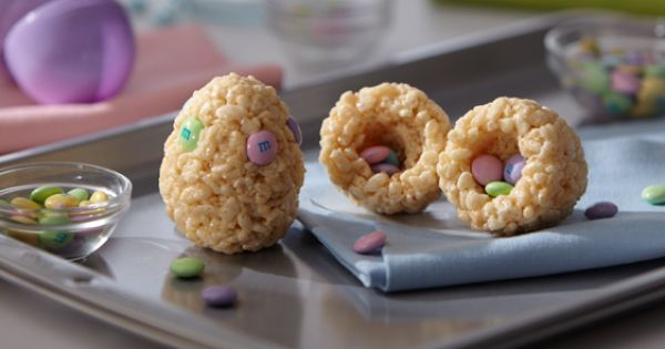 Rice Krispie Treat Easter Egg Treats for the kids