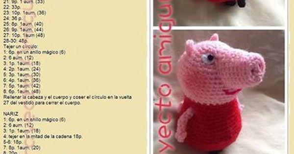 Peppa Pig La Cerdita Amigurumi - Patron Gratis en Espanol ...