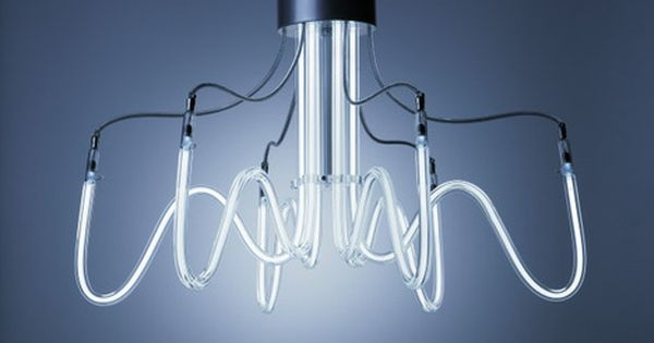 neoline lamps by boa design: neon chandeliers
