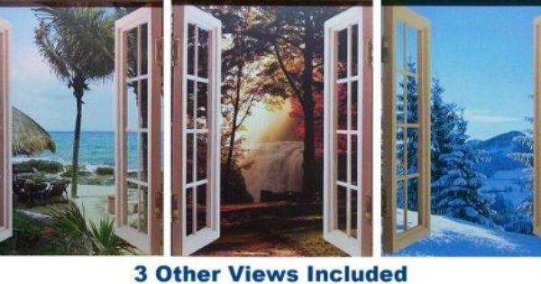 Cubivue Cubicle Decor Window Decoration With 4 Different Views Amazon Home Improvement Cubicle Decor Window Decor Work Office Decor