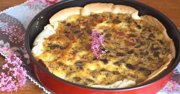 Tarta salada champiñón y queso cabra PIMIENTA ROSA | COCINITAS ...