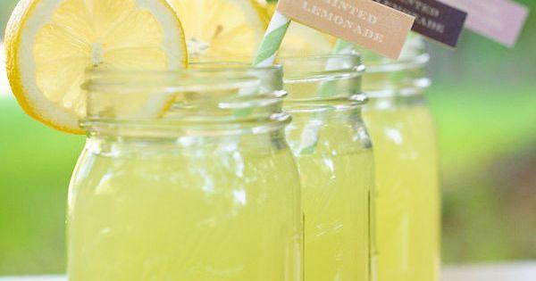Lemonade in Mason Jars? Adorable summer party idea!