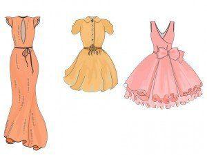 Kleider Einfach Malen Dekoking Com 4 Kleider Zeichnen Kleiderskizze Illustration Mode