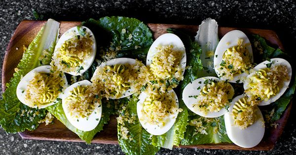 Caesar salad, Eggs and Deviled eggs on Pinterest
