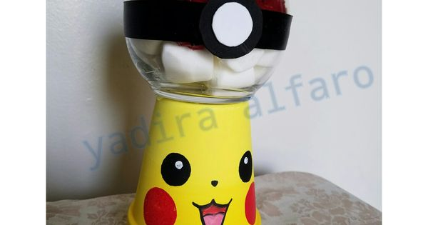 Pokemon Party Centerpiece Gumball Machine Pikachu Candy Jars Pinterest Pokemon Party