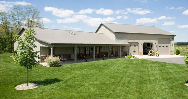 Pole barn homes metal barn homes pole barn home with heated garage lafayette homes for Interior design lafayette indiana