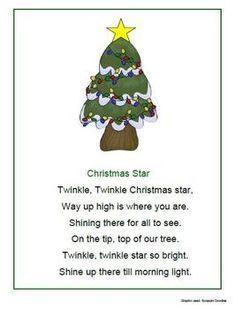 Image Detail For Christmas Songs Poems And Fingerplays 1 2 3 Learn Curriculum Christmas Poems Christmas Kindergarten Preschool Christmas Songs