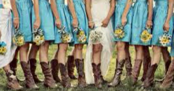 cowgirlboots - my kinda wedding - this exactly what I want for