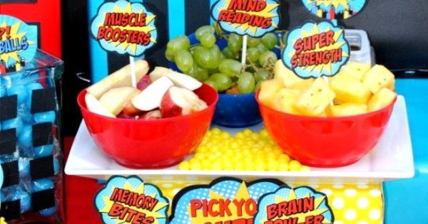 Super Hero Party Food Labels Superhero Birtthday