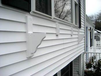 How To Build A Picture Window Sized Window Box On Vinyl Siding Vinyl Siding Window Planter Boxes Window Box