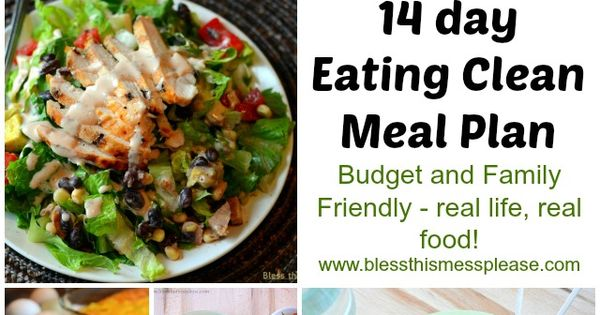 14 Day Clean Eating Meal Plan- a few good recipes to try