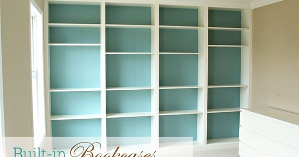 Built in Billy bookcases - Ikea hack | I'd probably use something