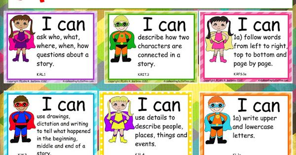 Common Core Classroom Ideas | Teaching Blog Addict: Super Hero I CAN