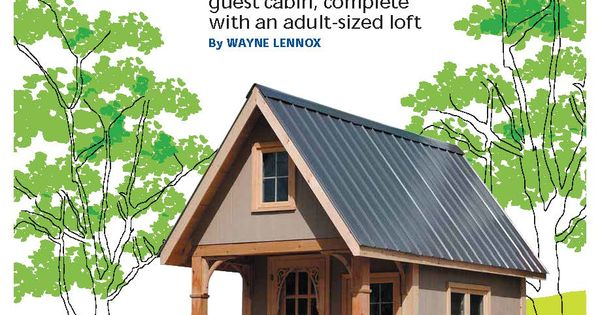 From cottage life plans and all bunkie must for Cottage bunkie plans