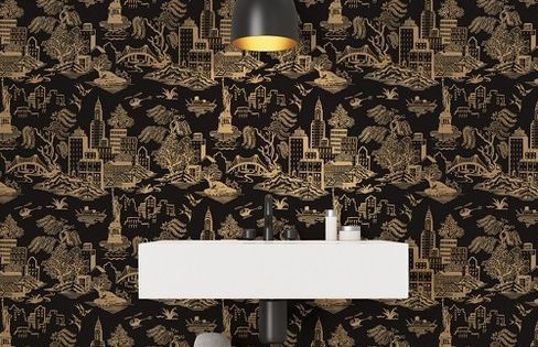 New York Toile Self Adhesive Removable Wallpaper Black Tempaper Target Removable Wallpaper Flat Paint Toile Wallpaper