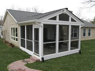 Hnh Deck And Porch Porches Screened Room Gallery House With Porch Porch Design Screened Porch Designs