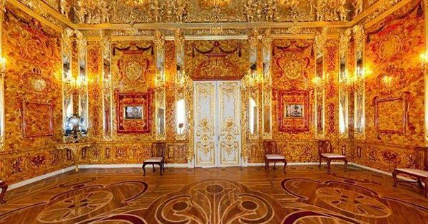 Amber Room At Katherine Palace St Petersburg Russia