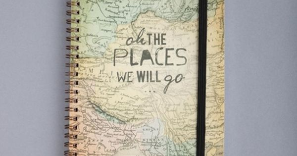 Get a road trip traveling journal to keep track of places you