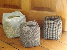 How To Make A Door Stopper.Thrifty Tweed Door Stop Tutorial Diy Doorstop Door Stop