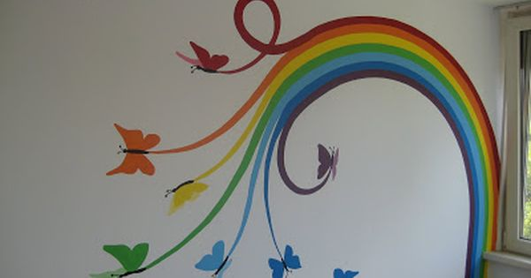 Muurschildering gemaakt voor marlayne made by sigart for Painting stripes on walls in kids room