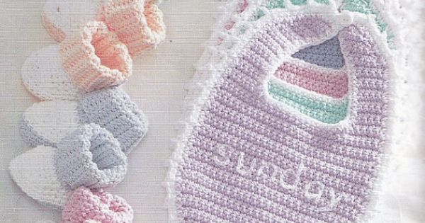 Bernat Crochet Baby Bib Pattern : Bibs and Booties Crochet Patterns - Bernat Handicrafter ...
