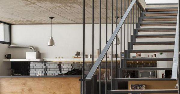 designs d 39 escalier suspendu le look du loft moderne mezzanine loft and design. Black Bedroom Furniture Sets. Home Design Ideas