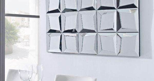Espejo decorativo realizado con cristal y espejos for Espejos de formas