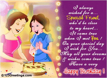 Birthday Wishes For Best Friend Girl Images ~ Birthday wishes for friend many more happy returns of