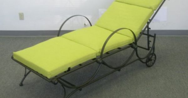 Outdoor Chaise Lounge Cushion In Lime Green By Blazing Needles