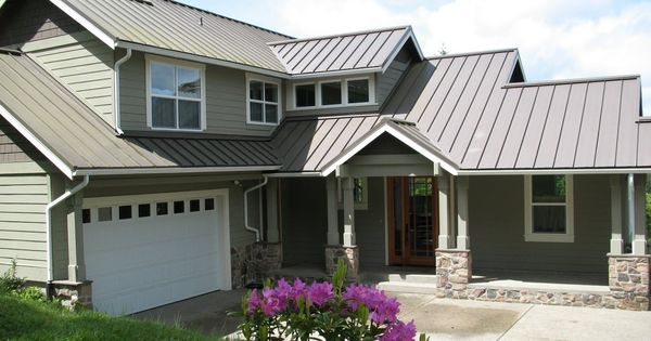 Best Grey Metal Roof With Green Painted House Looks Nice 400 x 300