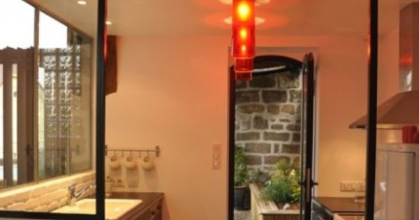 La cuisine avec vitres d 39 ateliers cuisine pinterest for Cuisine avec vitre atelier