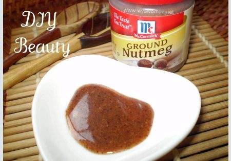 ERASE ACNE SCARS. 1/2 tsp of nutmeg, and a 1/4 tsp of